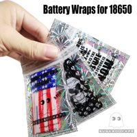 国民米国国旗ヴァペニング箴言スケルトンスカルアーミー18650 20700バッテリーPVCスキンステッカーベーパーラッパーカバースリーブ熱シュリンクラップ
