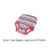 Красочные удобные Pet собака одежда хлопок затянуть ремень санитарно физиологические брюки Pet белье подгузники комбинезоны Pet Брюки 2 шт.