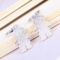Brand New Imitation Rhodium Plated Earrings Not Fade Popular...