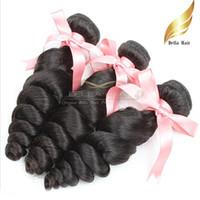 El pelo humano peruano de Remy de la Virgen del pelo de Remy teje la armadura floja del pelo de la onda 10-24 pulgadas de grado 9A 3pcs / lot color natural Envío libre