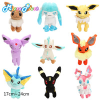 9pcs lot Eevee Series plush toy Eevee Espeon Flareon Espeon ...