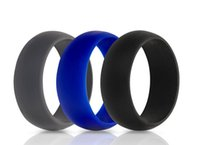Silicone Wedding Ring Black White Grey Purple Rubber Ring Fo...