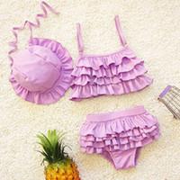 Çocuklar mayo kız iki adet çocuk mayo fırfır mermaid kuyrukları ile çocuklar için bikini bebek kız küçük kızlar swim suits