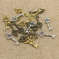 PULCHRITUDE Three Color Vintage Metal Keys Jewelry Charms Je...