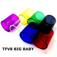 DHL FREE TFV8 Big BABY Glass Tube Colorful Pyrex Replacement...