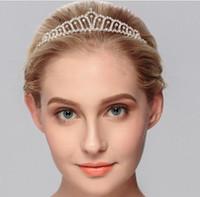 Pretty Rhinestone Tiara Crown Exquisite Hoofdband Kam Pin Wedding Bruids Birthday Tiaras Bruids Hoofd Stukken Bruids Haaraccessoires
