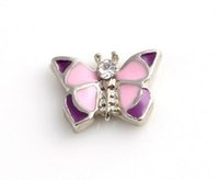 Wholesale 20PCS lot Animal Butterfly Floating Locket Charms ...