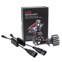 50 paia / lotto 80 W / 120 W 8000LM / 1000LM CREE LED Kit faro fascio lampadina 6000 K bianco ad alta potenza