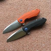 Zero Tolerance OEM ZT0456 Flipper cuchillo plegable teniendo D2 blade G10 mango supervivencia exterior que acampa caza cuchillo de bolsillo herramientas EDC