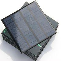 الايبوكسي الكريستالات 3 واط 12 فولت البسيطة الخلايا الشمسية ديي لوحة للطاقة الشمسية شاحن بطارية نظام دراسة 145 * 145 * 3 ملليمتر مجانية