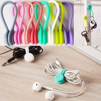 Hot Multifunction Magnet Silicone Earphone Headphone Cord Wi...