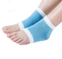 Unisex Gel Heel Meias Hidratante Spa Meias Gel cuidados com os pés Rachado Pé Seco Protetor de Pele Dura Cuidados Com Os Pés Ferramenta