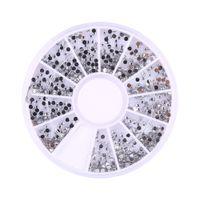 Toptan-1800pcs Gümüş 1.5mm Nail Art Rhinestones Dekorasyon Diamante Glitter Tekerlek Güzellik Manikür Çıkartma Ongles Tekerlek Tırnak Aracı