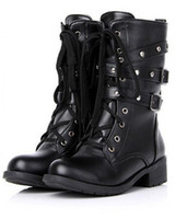 Motorcycle boots shoes on the platform of women fashionable ...