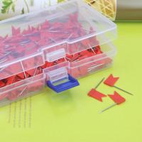 Drapeau de haute qualité Carte Punaises couleur rouge, 200 pièces par boîte, 35x18 mm Livraison gratuite