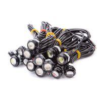 10X 이글 아이 LED의 18mm 자동차 안개 DRL 주간 주차 신호 램프 오토바이 스타일링 광원 전구 자동차를 실행