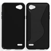 100pcs / lot.black 투명한 shockproof 안티 - 스키드 S 라인 TPU 젤 스킨 케이스 커버 LG Q6 / Q6 플러스 / Q6A, DHL에 의해 무료 배송