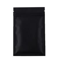Högkvalitativ 100 x Metallic Mylar Ziplock Väskor Flat Bottom Black Aluminium Folie Små Zip Lock Plastpåsar