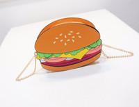3pcs Messenger Bags Creative Chain Bag Cute Min Hamburgers Ice Cream Pu Cross Body