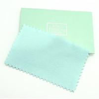 10 unids / lote Limpieza Paño de pulido para limpiadores Polaco 925 Regalo de joyería de plata 6x10cm CL2