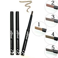 Popfeel 5 Colors Eyebrow Pencil Automatically Rotating Makeu...