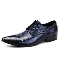 2017 Nova Moda Estilo Crocodilo Dos Homens Se Vestem Sapatos De Alta Qualidade Dos Homens Oxford, Oxford Sapatos Para Homens, Sapatas De Vestido De Casamento