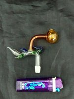 Renk Cam Ejderha Burner, Sigara Aksesuarları Sigara Cam Su Boruları Yağı Cam Boru Parçaları Pot Sigara İçme veya Bonglar