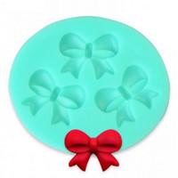 Toptan-3D Yay Fondan Çikolata Kalıp Şeker Kek Sabun Kalıp Kek Dekorasyon Pişirme Aracı # 40935