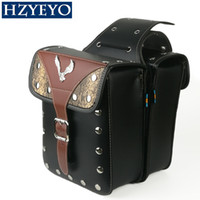 1 Pair Motorcycle PU faux Leather Left & Right side Saddleba...