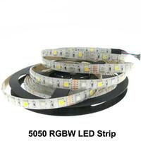Праздник освещения светодиодные ленты 5050 RGBW DC12V 60LED / M 5m / серия RGB + белый / RGB + теплый белый гибкий светодиодные светодиодные полосы