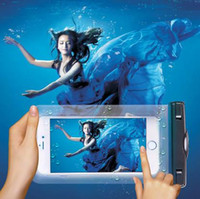 Evrensel Sürüş PVC Dayanıklı dokunmatik Su geçirmez Çanta% 100 Mühürlü Telefon Kılıfları Kılıfı iPhone 6 7 artı Samsung Galaxy S7 S6 S8