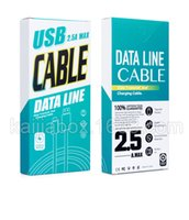 Wholesale Printing Logo Ratail Paper Packaging Box For USB Charger Data Cable Fit 1-1.5 Meters Long For IOS Android