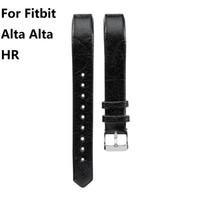 Cinturino in pelle di vacchetta per fodera Cinturino in cuoio genuino per Fitbit Alta Alta HR Cinturini cinturino 10 colori 10 PAIR / LOT