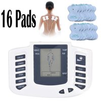 전기 자극기 전신 긴장 근육 마사지 마사지 마사지 맥박 수십 침술 건강 관리 기계 16 패드