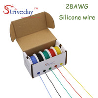 50m 28AWG Flexible Silicone Wire Cable 5 color Mix box 1 box...