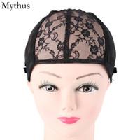 1 قطعة أسود اللون لمط الرباط الباروكة كاب ، كاب hairnet مطاطا ، قابل للتعديل حزام شعر مستعار كاب لصنع الباروكة