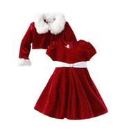 Baby santa claus kostüm kinder weihnachten kleidung rot mädchen kleid kinder neujahr anzüge für mädchen niedlich festival kleider