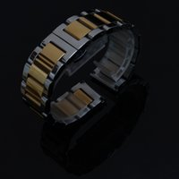 18 ملليمتر 20 ملليمتر 21 ملليمتر 22 ملليمتر 23 ملليمتر 24 ملليمتر حزام watchband سوار الفضة مع الاكسسوارات لون الذهب المعصم ووتش استبدال حزام جميل مصقول
