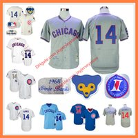 Ernie Banks Jersey 1968 Cooperstown Chicago Cubs Jerseys Hem...