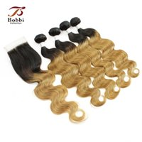 Ombre Human Hair T1b 27 Dark Root Honey Blonde Extensions Bo...
