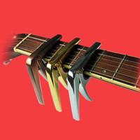 AROMA Akustik Elektro Gitar Capo Alüminyum Alaşım Silikon Yastık Koruyun Dizeleri Halk gitar Capo Ücretsiz kargo yüksek kalite