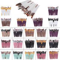 20 pcs marca escovas de maquiagem profissional pincel cosmético conjunto com natureza contorno pó cosméticos escova maquiagem