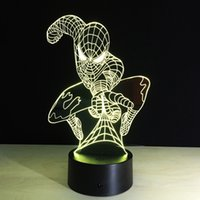 2016 Attacking Spiderman 3D Optical Illusion Lamp Night Ligh...
