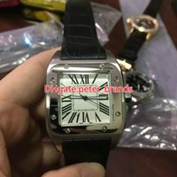 High quality quartz Mens Watch Stainless steel case black le...