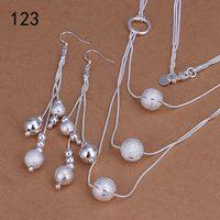 même ensembles de bijoux en argent sterling femmes de style de mix prix, mariage de la mode en argent 925 bijoux boucles d'oreilles set GTS34
