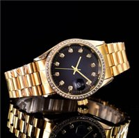 38mm automatic date calendar luxury fashion Gold and silver ...