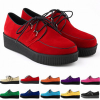 New Arrival Shoes Woman Faux Velvet Flat Shoes Lace Up Goth ...