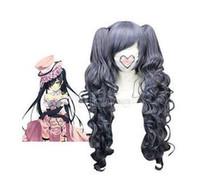 Envío gratis Nueva peluca de alta calidad de la imagen de moda Purpurina gris 70 cm ASH-Ciel Phantomhive peluca de nylon Cosplay