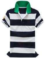 2017 년 여름 신작 폴로스 남성 캐주얼 셔츠 짧은 소매 캐주얼 셔츠 POLO shirts big horse 무료 배송