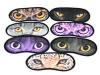 100pcs / lot Livraison rapide Sexy 3D Print Animal Eyeshade Covers Voyage Sleeping Eye Mask Couverture de sommeil yeux bandés Masque.